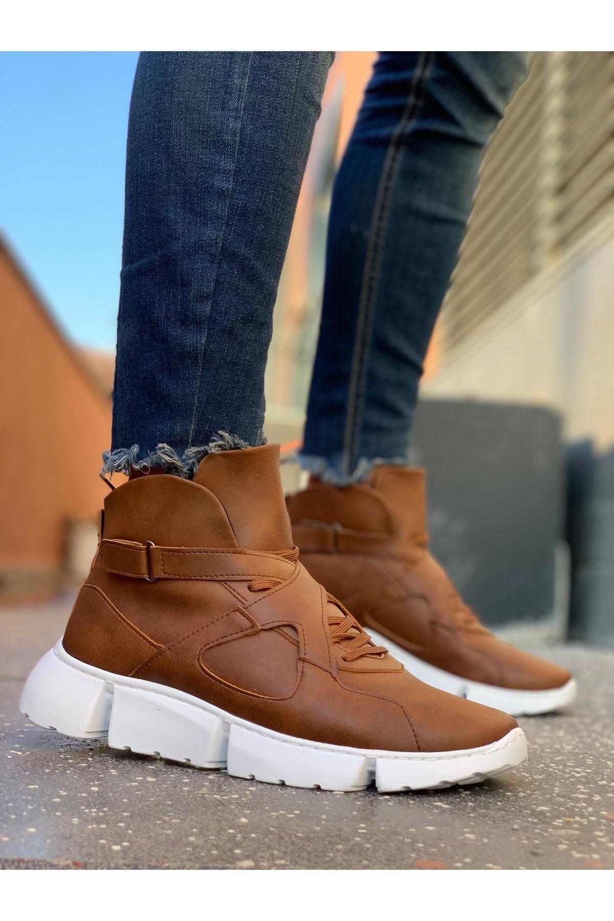 Chekich ch081 bt tan botas esportivas masculinas