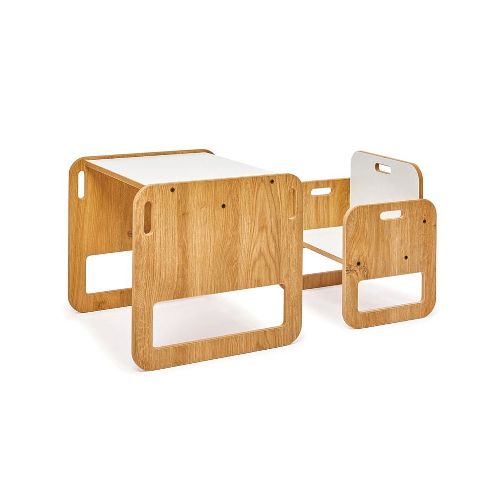 0-2 Age Montessori Table and Chair Set Wooden Kids Play Table Toddler Activity Desk Children Furniture Cube Chair for Girls Boys