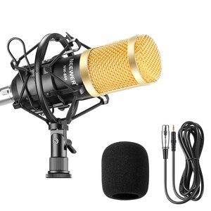 Профессиональный светодиодный конденсаторный микрофон Neewer, проводной микрофон 2,5 м для караоке NW800, записывающий микрофон для компьютера, к...