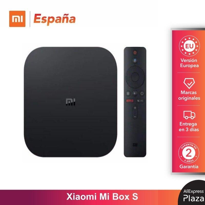 Xiaomi Mi TV Box S Original TV de Versión Mi S 4K Ultra HD Android TV 9,0 HDR 2G 8G WiFi Google Cast Netflix TV Mi Caja Box S