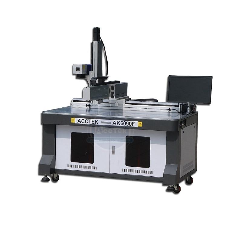 منطقة عمل كبيرة آلة التعليم بليزر الألياف 30 واط 50 واط 100 واط Raycus JPT مصدر الليزر AK6090F