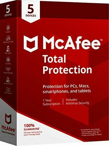 Antivirus Mcafee Total Protection 2020/2021 Multi Devices 1 Years.