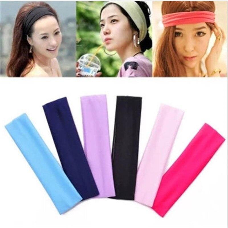 13 цветов, Женская эластичная повязка на голову для йоги, баскетбола, спортзала, спорта, эластичная повязка для волос, повязка на голову, аксессуары для волос для женщин