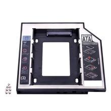 "Kphrtek Zweite 2nd HDD Caddy 12,7mm 2.5 ""SATA 3,0 SSD Fall Festplatte Gehäuse Adapter + LED für laptop CD-ROM DVD ROM Optibay"