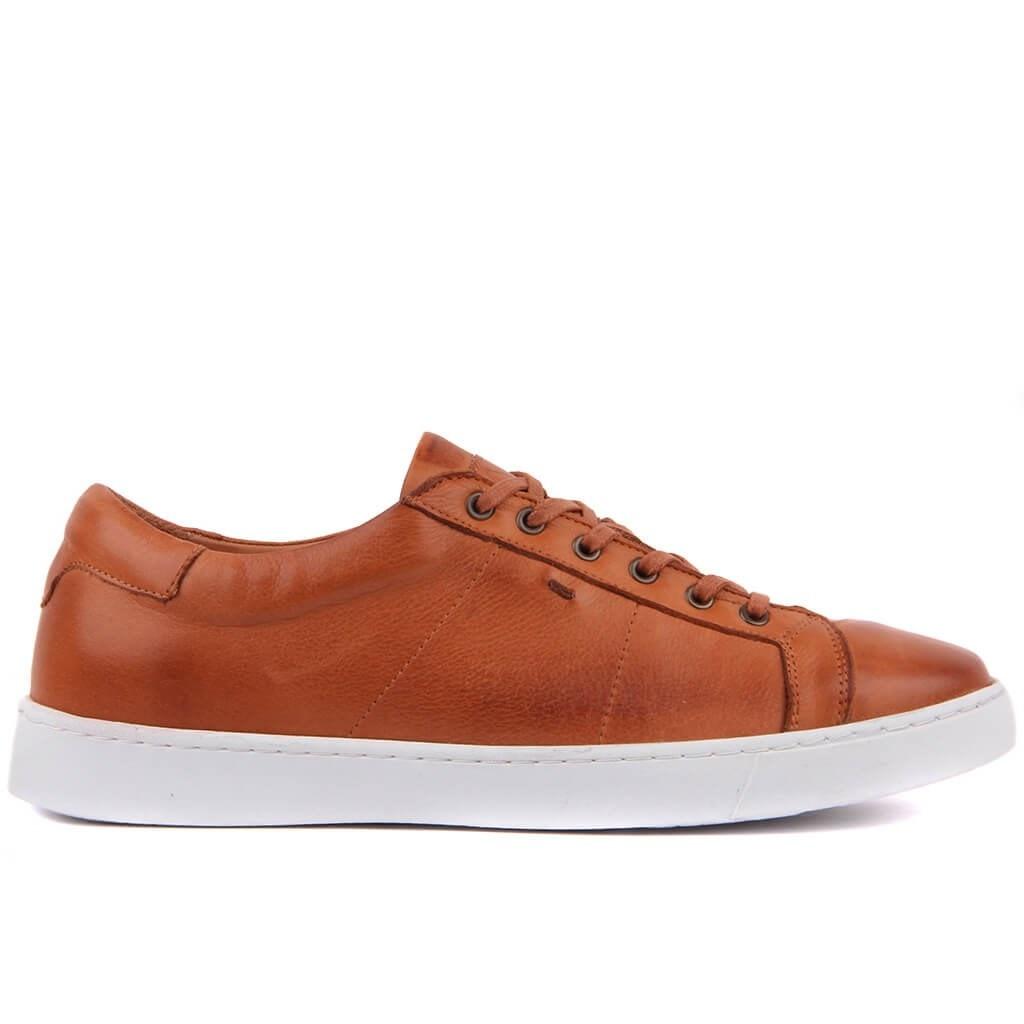 Sail Lakers-حذاء رياضي من الجلد الطبيعي للرجال ، غير رسمي ، مسامي ومريح ، لفصلي الربيع والصيف