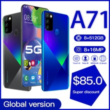 """Global Version Galay A71 8GB 512GB 5G Smartphone 6.8"""" MTK6598 10 core 4g network Mobile Phones And"""