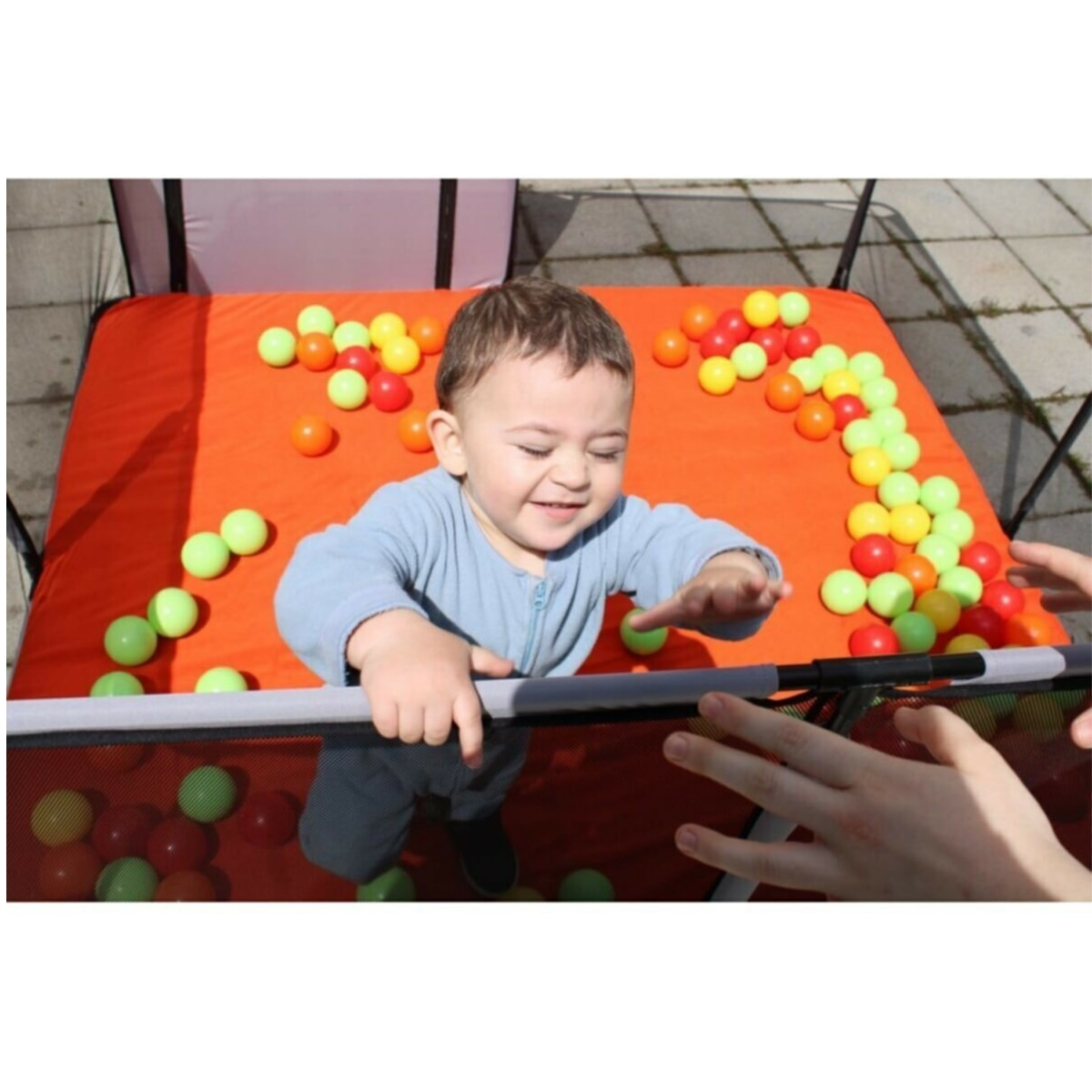 TurQuality Portable Baby Playpens Playing Zone Toddler Gaming Area 6 months ~ 6 Years Old Kids Soft Play Indoor Playground Pit safety Fence Yard  Baby Toys Pool Boys Girls Unisex Parents Mother Mommy Free Dropshinping enlarge