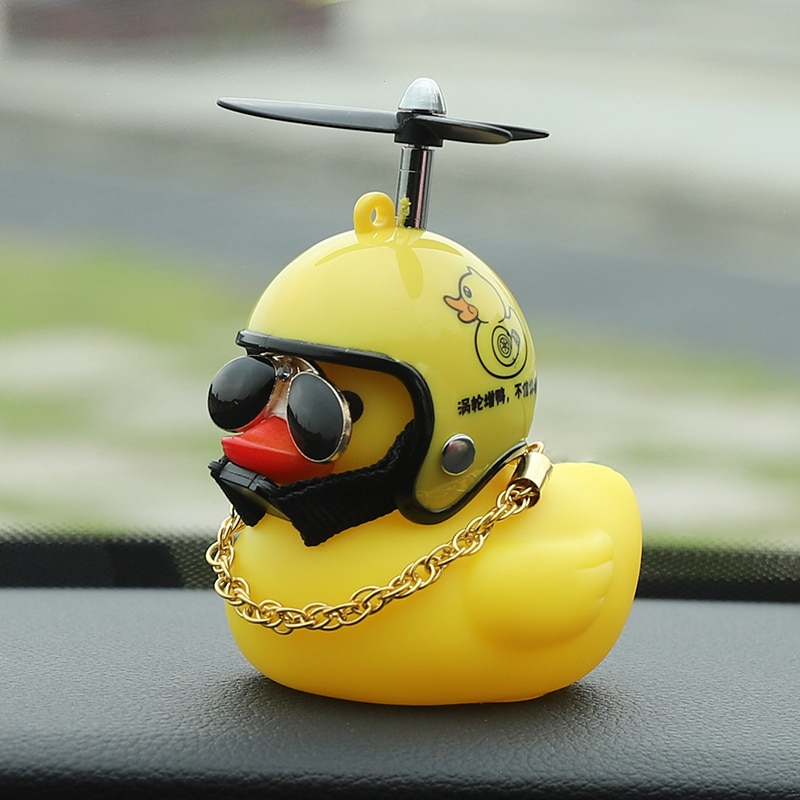 AliExpress - Duck in car with propeller wearing helmet wearing glasses with chain TikTok bicycle bell beeps and lights up Mobylos 30474