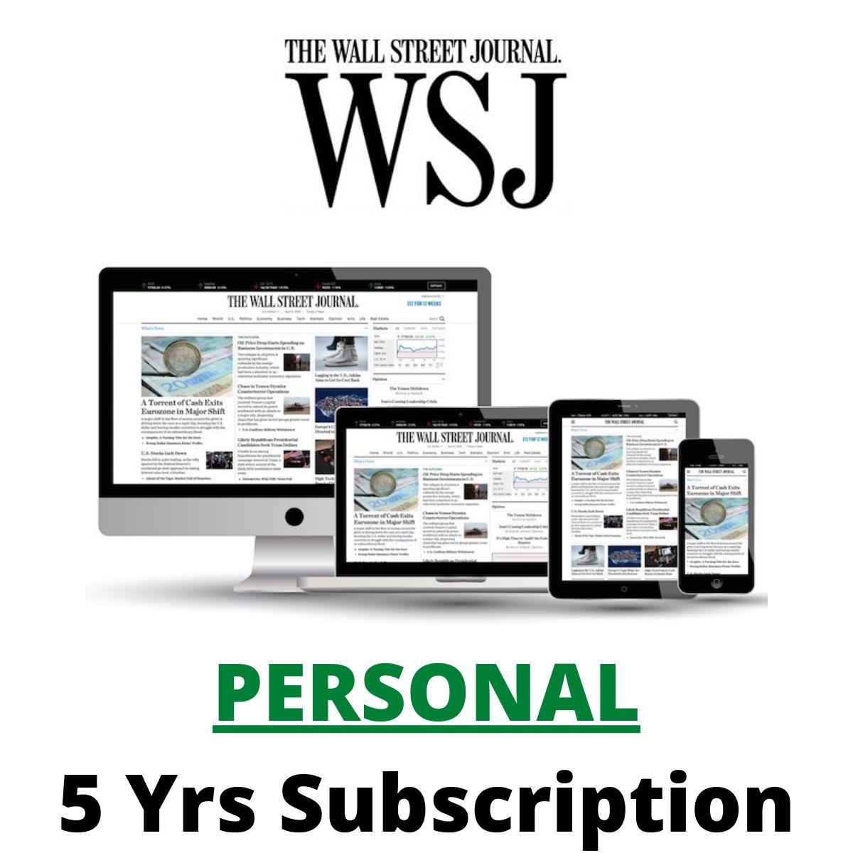 Wall street journal wsj assinatura digital de 5 anos ios/android/pc irrestrito