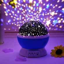 Ночник Проектор Звездного неба и созвездий вращающийся Светодиодный светильник для спальни и детской