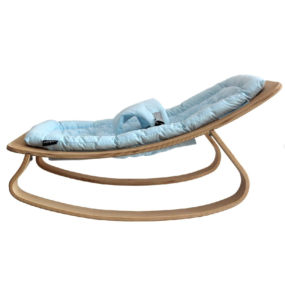 Rocking Wooden Cradle Baby Chaise Lounge Baby Cradles Rocking Chair Kids Room Set New Born Swing Direct Shipping enlarge