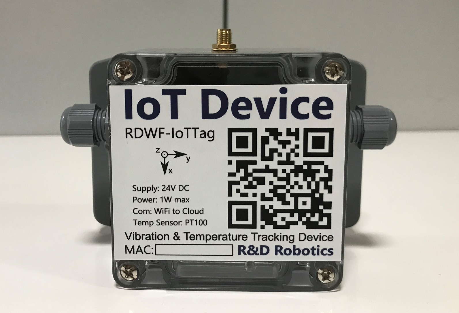 Motor Vibration And Temperature Tracking Device