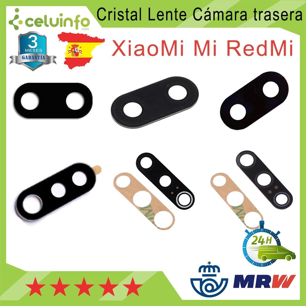 Cristal lente cámara trasera para Xiaomi Mi 5X / Mi 6X / Mi A2 / Mi Play / Mi 8 Lite / Mi 8 / Mi 9 / Mi 9 SE Envío desde España