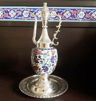 Ottoman Turkish Tulip Desing Decorative Pitcher İbrik