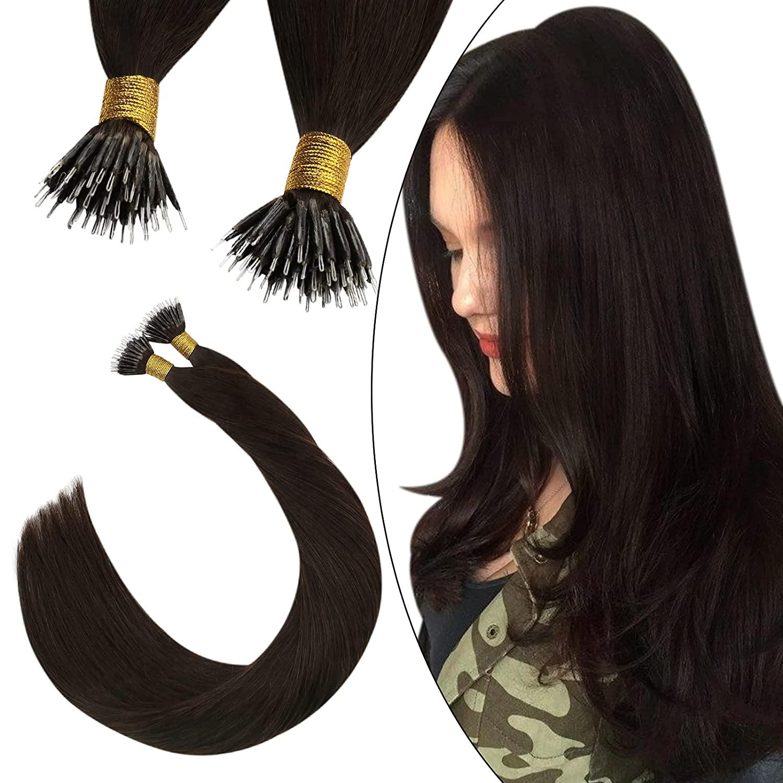 Ugeat حلقة نانو وصلات شعر الإنسان الشعر 14-24