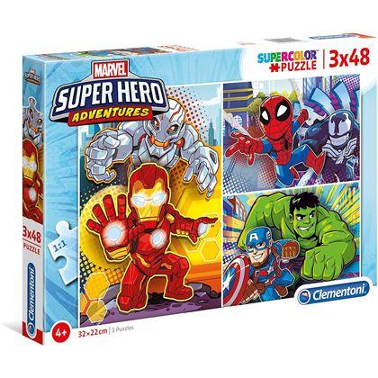 Puzzle 3x48 superhero