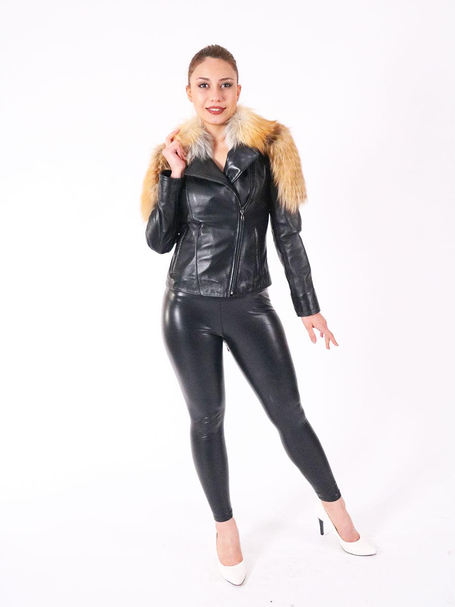 Fashion leather coat natural fox fur coat real fox fur jacket winter thick warm Jacket 2021