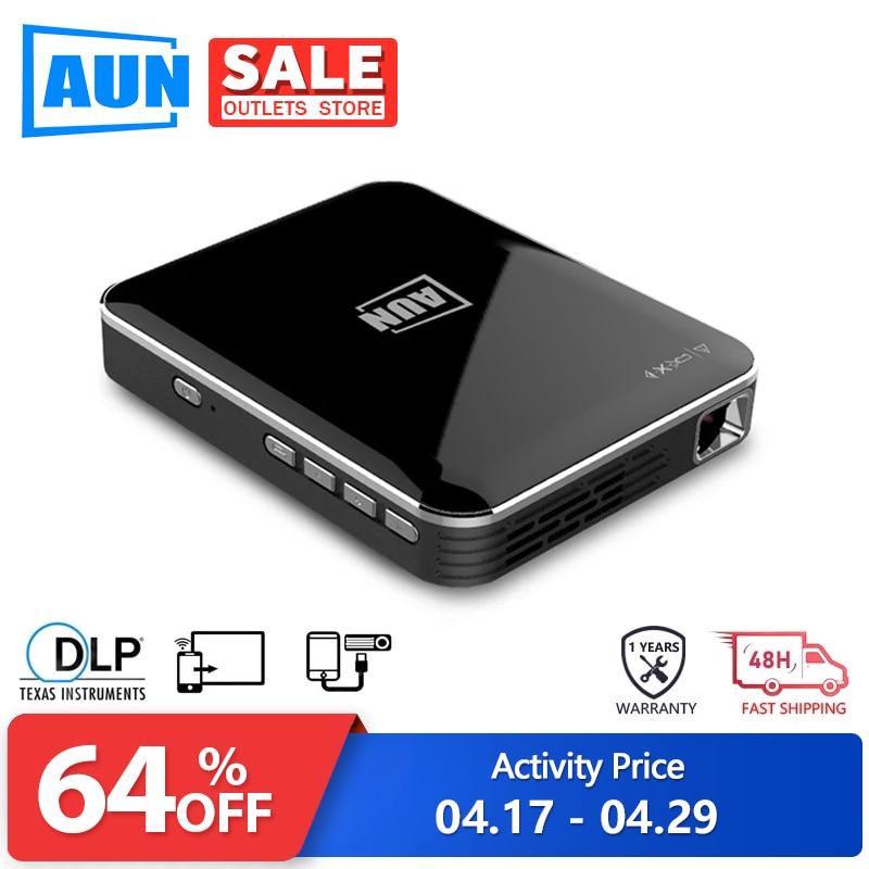 Аун Мини проектор 2 часа в режиме ожидания смарт-телефон экран зеркалирование для домашнего кинотеатра HDMI 1080P дисплей портативный 3D проектор X3