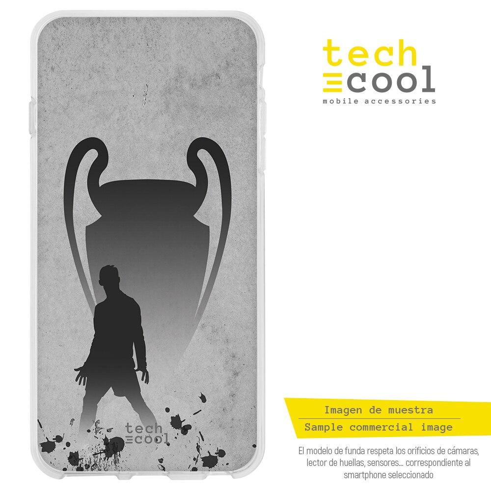 FunnyTech® Funda Silicona para Sony Xperia XA1 CR7 Ronaldo versión Gris