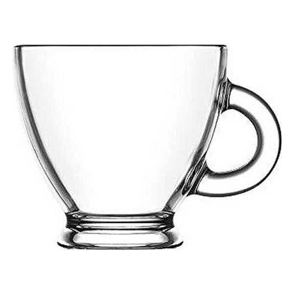 Piece Coffee Cup Set LAV Roma 225 ml Crystal (6 Pcs)