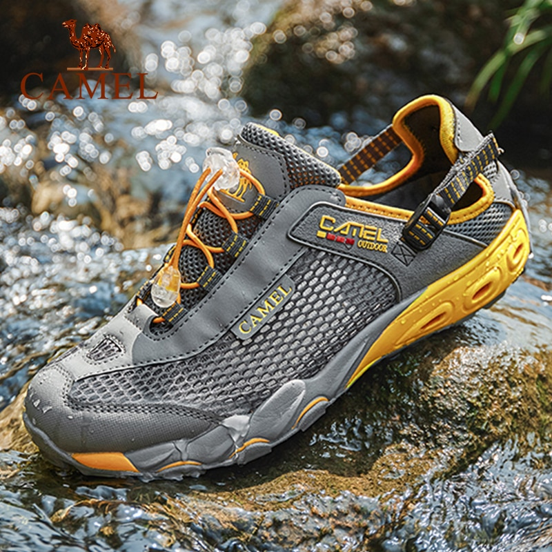 CAMEL Men Women Sandals Male Female Breathable Quick-drying Non-slip Shoes Fishing Shoes Wading Beach Sandals ляжне сандалии