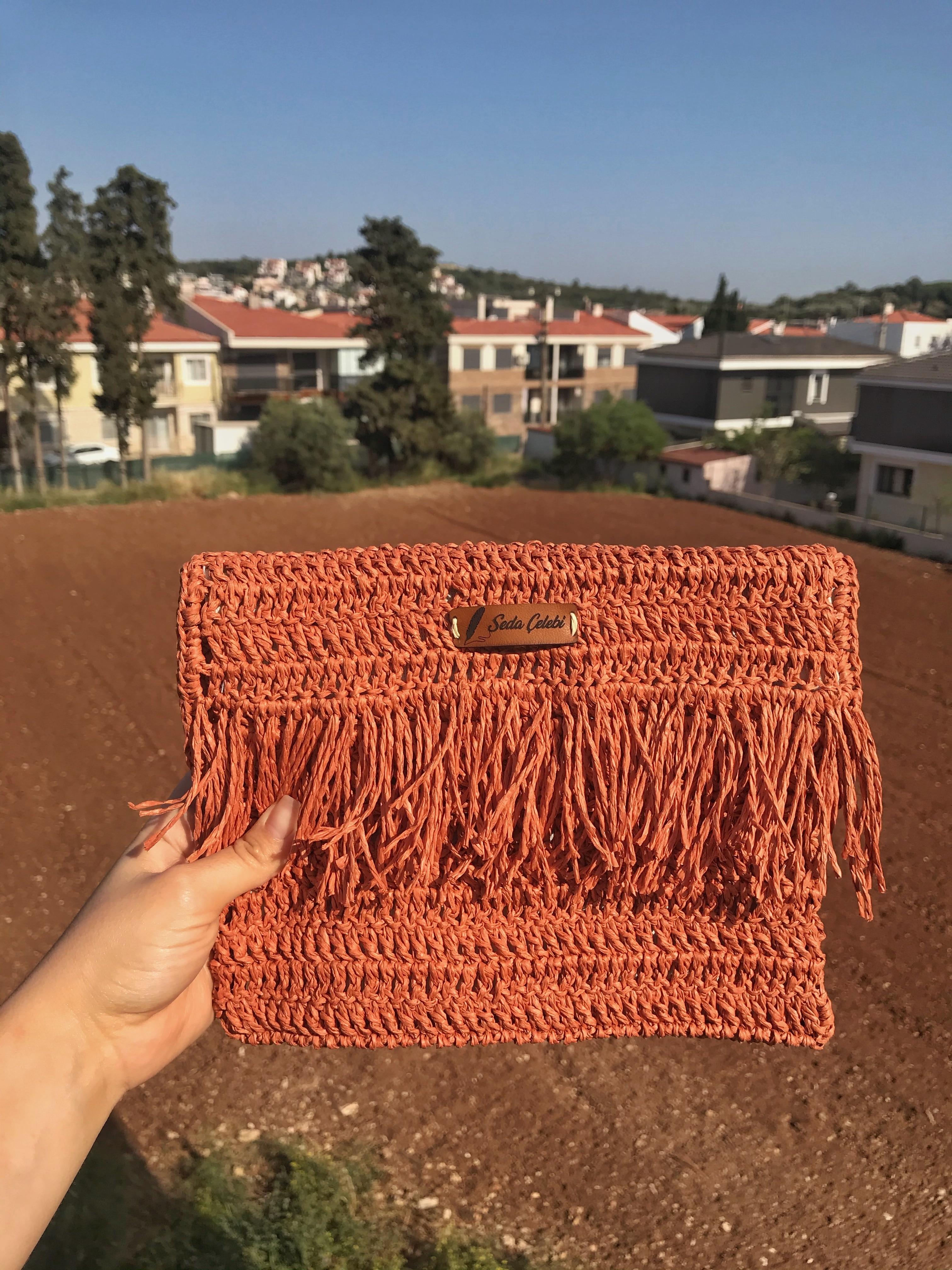 Women Woven Bag 2021 Fashion Summer Beach Cinnamon Color Handmade Trendy Best Model Cool New Collection cinnamon cider decorative fragrance 1 3lb bag