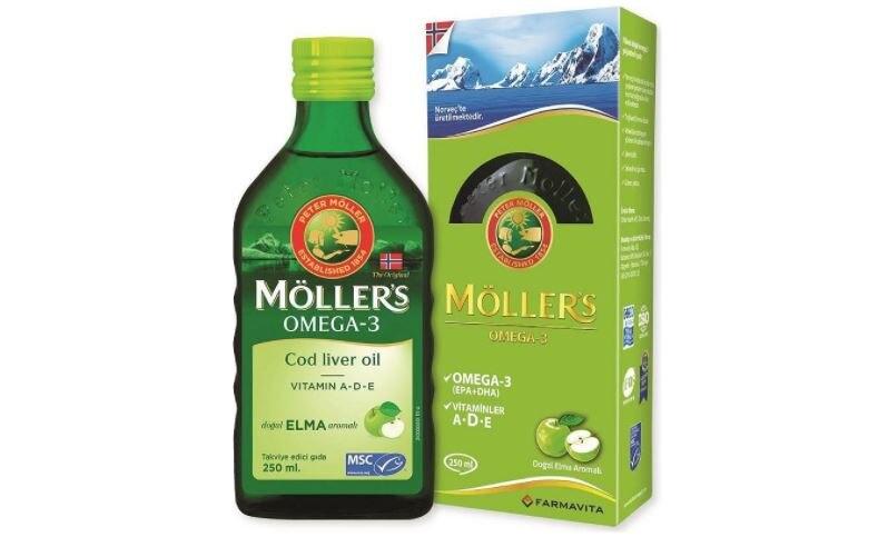 Möller's Omega 3 Natural Apple Flavored Fish Oil 250 ml