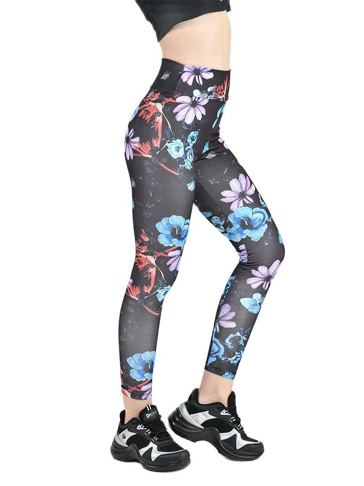 Yoga Set Women's tracksuit Women sportwear Tights Sportswear Womens Digital Tights Suitable For Daily Sports Wear Comfortable