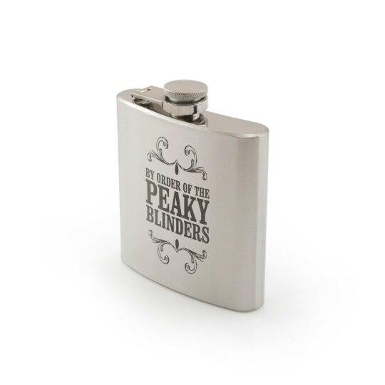 PEAKY BLINDERS petaca Hip Flask Laser Engraved Novelty Whiskey