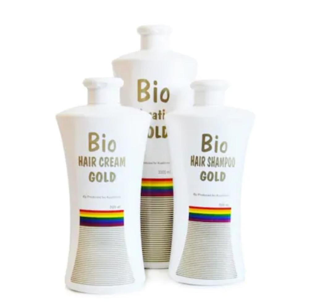 100% Set de secado por soplado brasileño de oro Bio keratina Original de 3