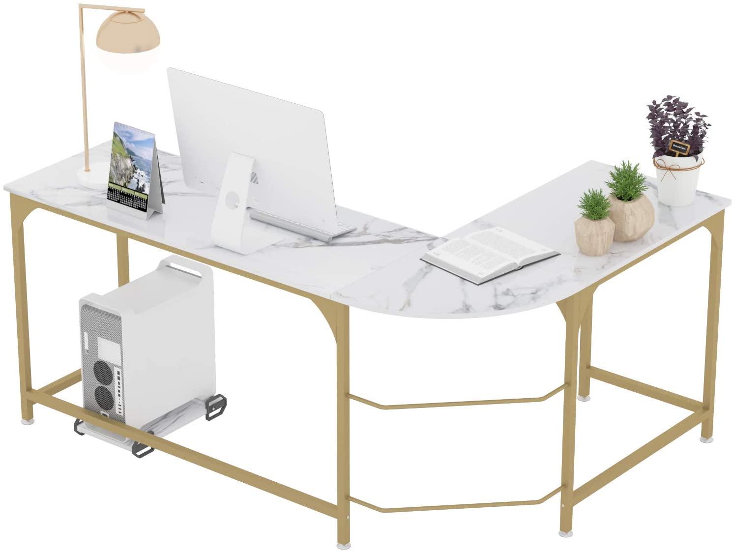 عكسها L-شكل مكتب ركن كمبيوتر ألعاب مكتب محطة العمل الحديثة دراسة المنزل الكتابة طاولة خشبية