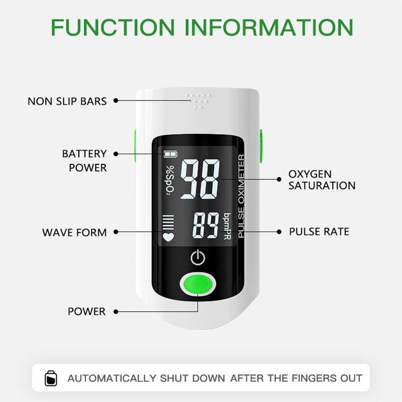 Professional finger pulse oximeter Household Finger Oximeter Blood Oxygen Saturation Monitor Health Diagnostic Meter