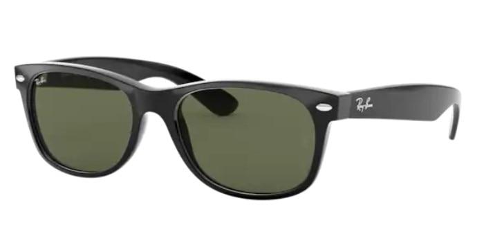 Rayban New Wayfarer 2132 901 58 Modern Sunglasses Black Frame G-15 Green Lenses Unisex Sunglasses 20