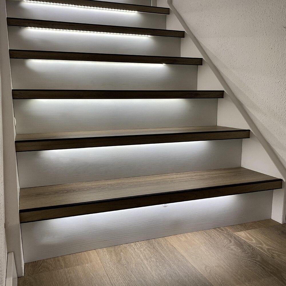 1.3M 16 Steps Bright White 4000K Stair light strip-Plug and Play