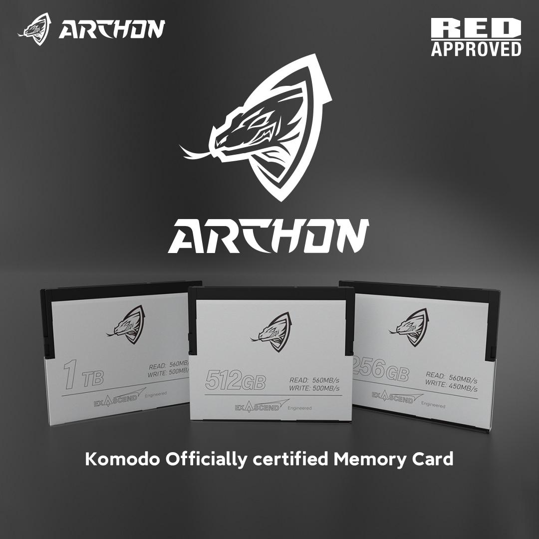 بطاقة ARCHON & exالتصاعدي CFAST 2.0 450 برميل/الثانية 256GB 4K 6K لتخزين كاميرات الفيديو والتصوير الفوتوغرافي الاحترافية