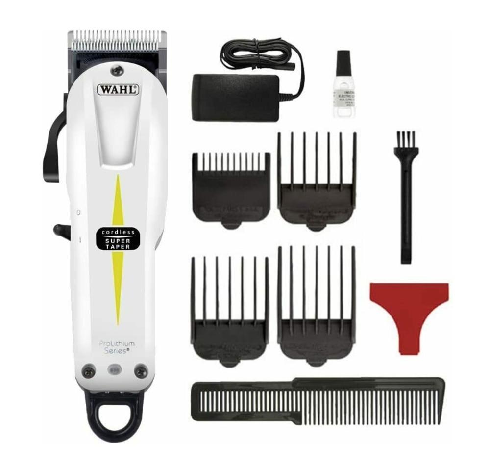 WAHL Professional Model 8591 ProLithium Series Super Taper Cord/Cordless Hair Clipper Trimmer, Hair Cutting Machine, Shaver