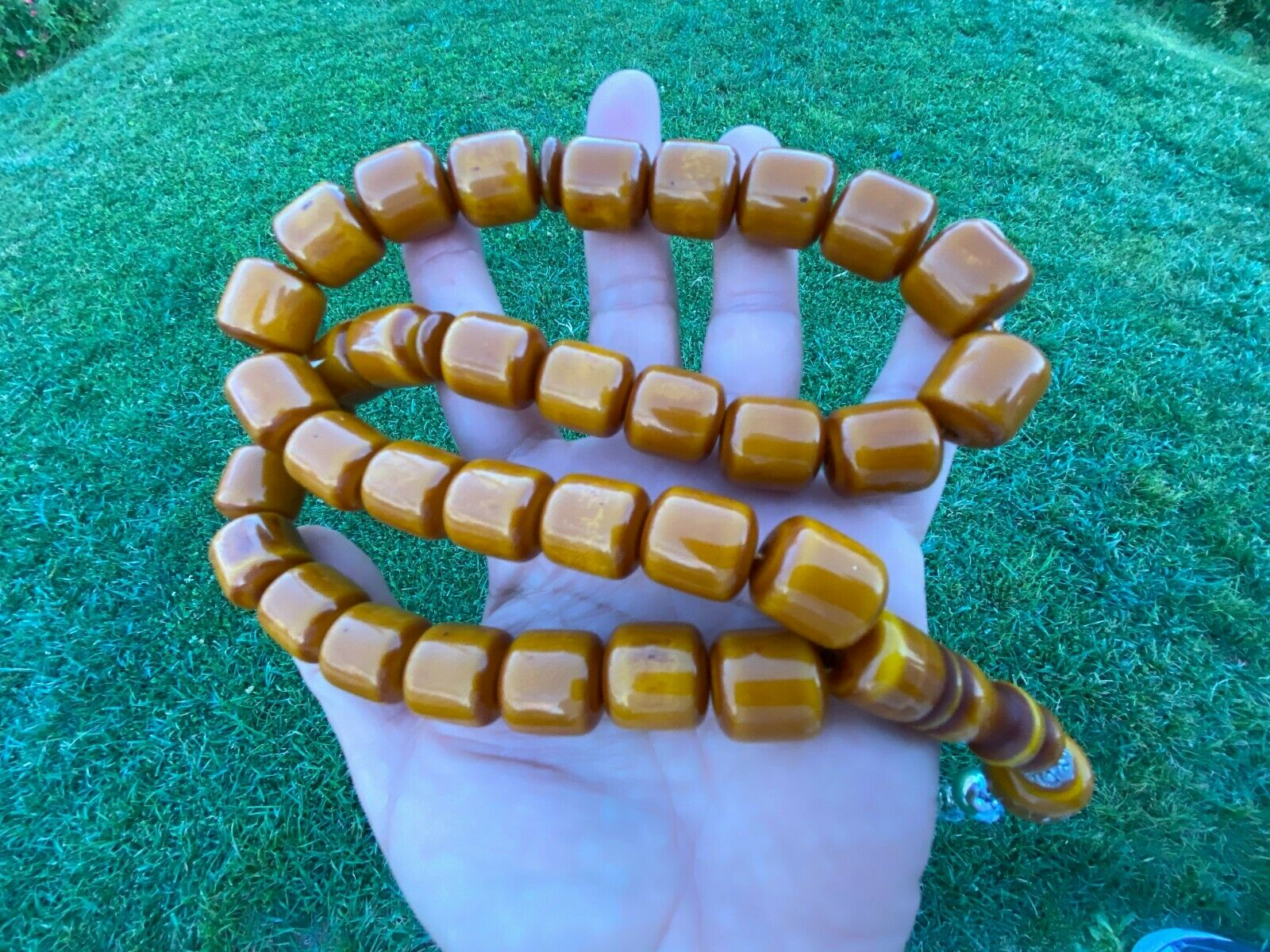 Ottoman Faturan German Amber Sandalous Misbaha Prayer Beads Islamic Gift Tasbih Tasbeeh Tasbeh Rosary Tasbih # 38A