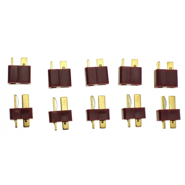 PACK 10 CONECTORES T-DEAN (5 HEMBRA + 5 MACHO)