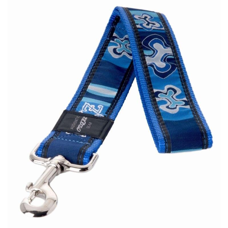 Coleira de cachorro rogz fantasia vestido xxl-40mm 0,5 m osso em azul índigo