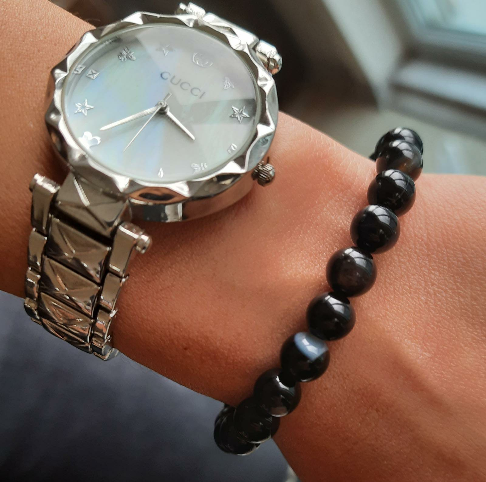 Black Aqeeq Natural Stone Bracelet For Men Fashion Zodiac Stone Bracelet Beaded Bracelet For men