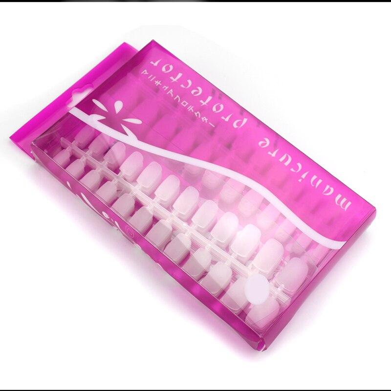 Nuevo 12 hojas/bolsa 288 Uds 10 tamaños Ultra-Delgado mate uña falsa parche artístico cubierta completa transparente uña flexible consejos