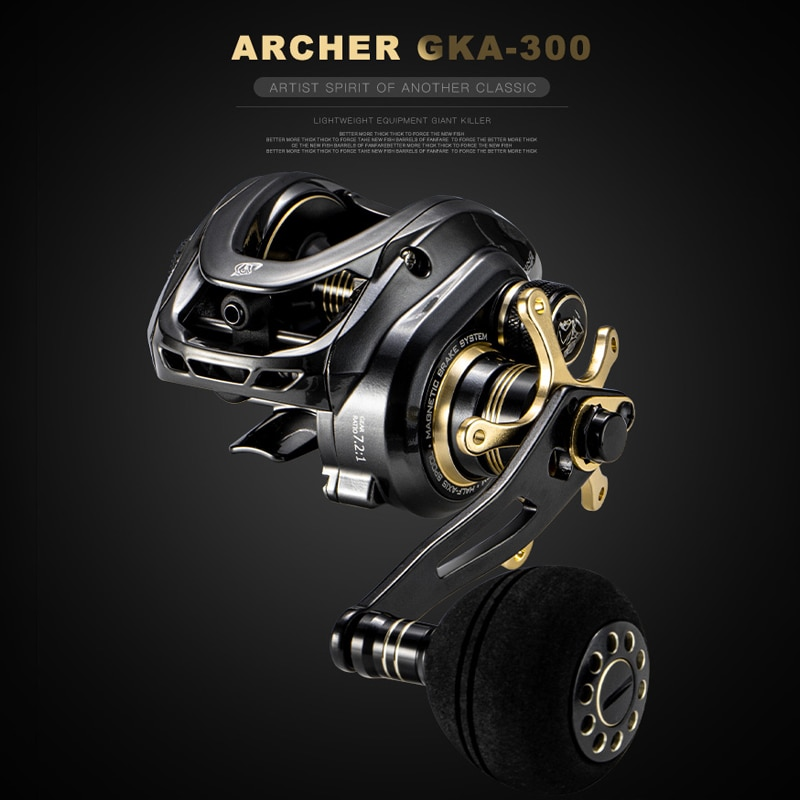 GKA300 Baitcasting Reel Magnetic Brake System Fishing Reel 9.5KG/22LB Max Drag 9+1 BB 7.2:1 High Speed Fishing Coil Drag Reel enlarge