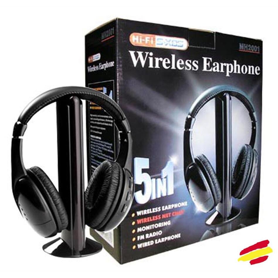 Wireless Headset TV 5 in 1 DIGITAL HIFI + microphone for TV PC Music