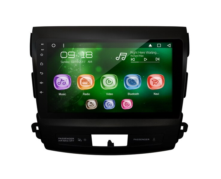 "Allways 9 ""IPS pantalla Android 9,0 octa-core Ram 2GB Rom 32GB coche Multimedia para Mitsubishi Outland 2007-2016 con 2.5D táctil"