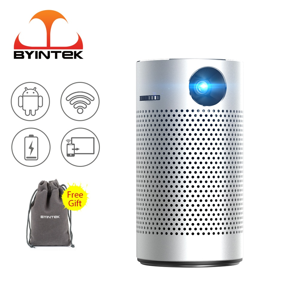 2021 BYINTEK P7 بيكو جيب المحمولة مايكرو الذكية الروبوت WIFI 1080p الفيديو HD TV LED DLP ميني بروجكتور 4K ل كامل HD سينما