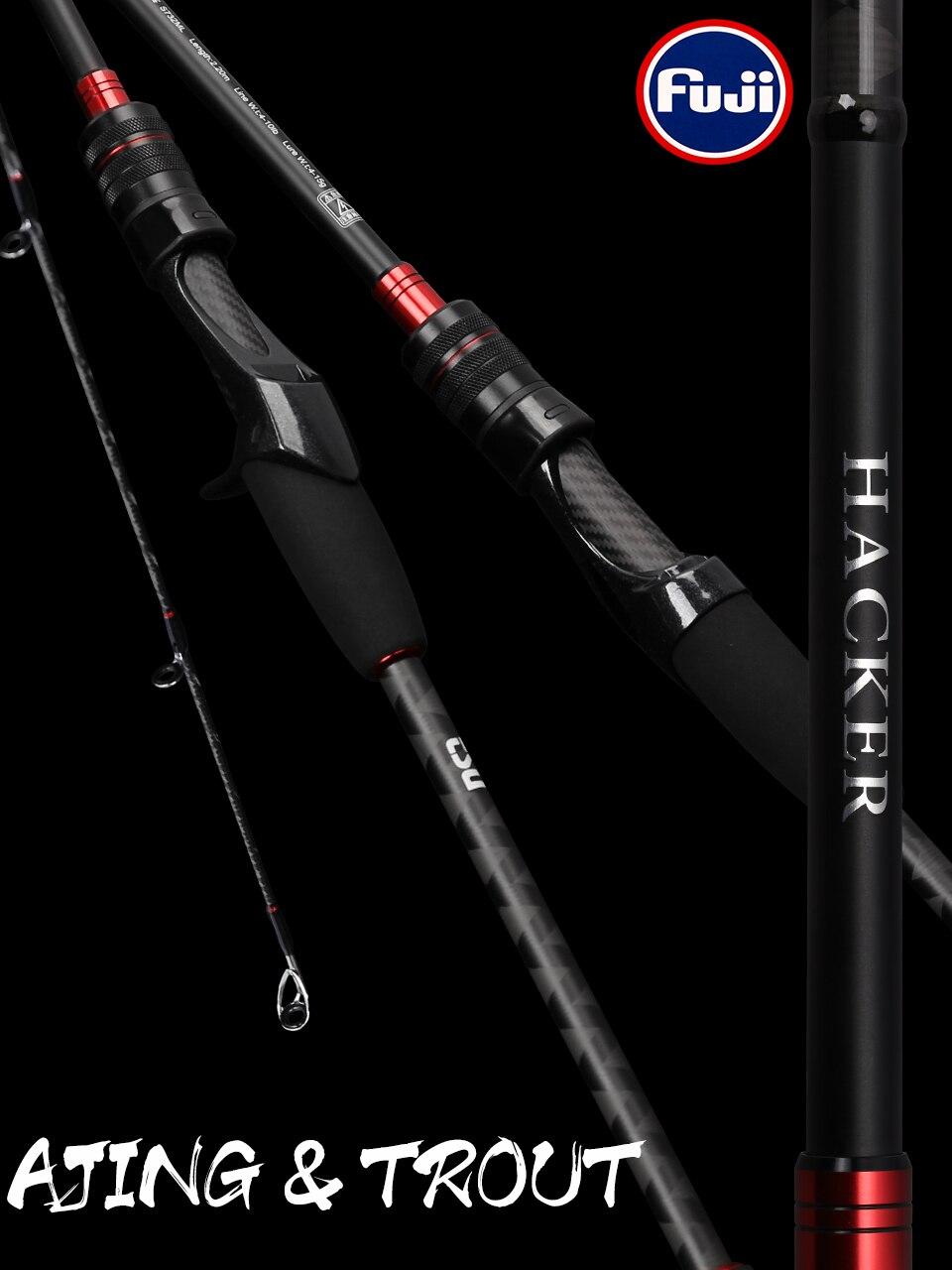 TSURINOYA UL AJING Forelle Rod 6,8 ft Hacker 2,04 m 2 Abschnitt Lange Casting Spinning Angelrute FUJI Guide Ringe action Medium Schnelle