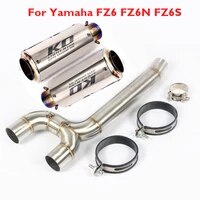 fz6s fz6n 51mm motorcycle exhaust muffler pipe modified connector tube middle pipe for yamaha fz6 fz6s fz6n