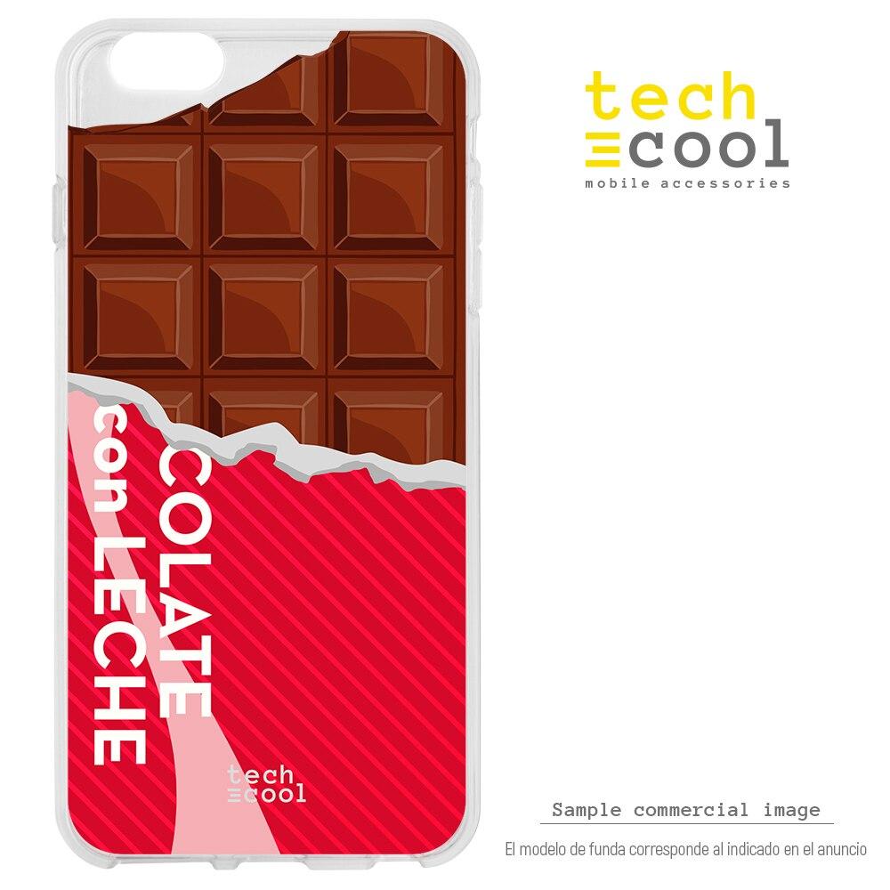 FunnyTech® Funda Silicona para ZTE Blade V9 Vita l Diseño Tableta de chocolate vers.2