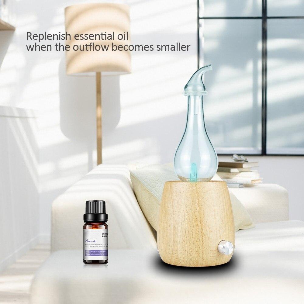 nebulizador de aroma para oleos essenciais difusor de vidro sem agua com luz led
