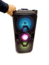 6501 système de haut-parleurs USB Bluetooth combo haut-parleur amplificateur son subwoofer rue valise microphone haut-parleurs FM